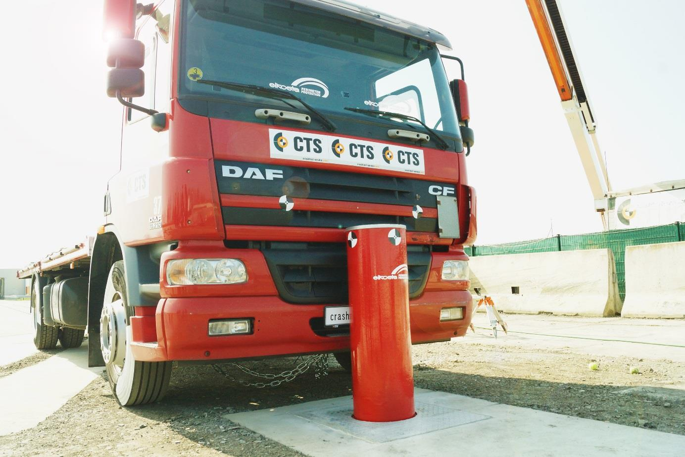 crash bollards with impact protection