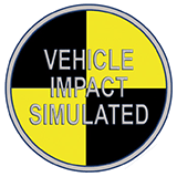 Badge Vehicle impact simulated