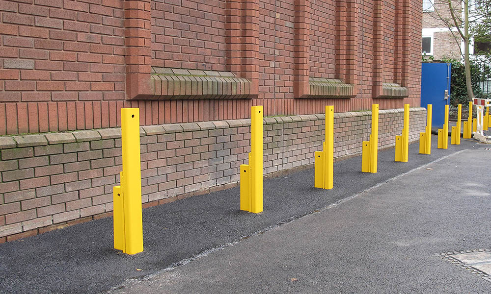 Street furniture combined with state-of-art spring bollard technology